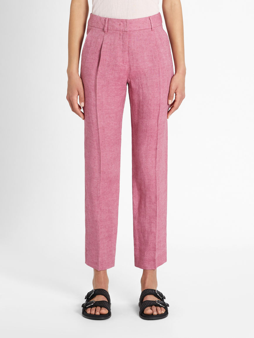 Womens Max Mara Trousers And Jeans | Linen Canvas Trousers Mauve