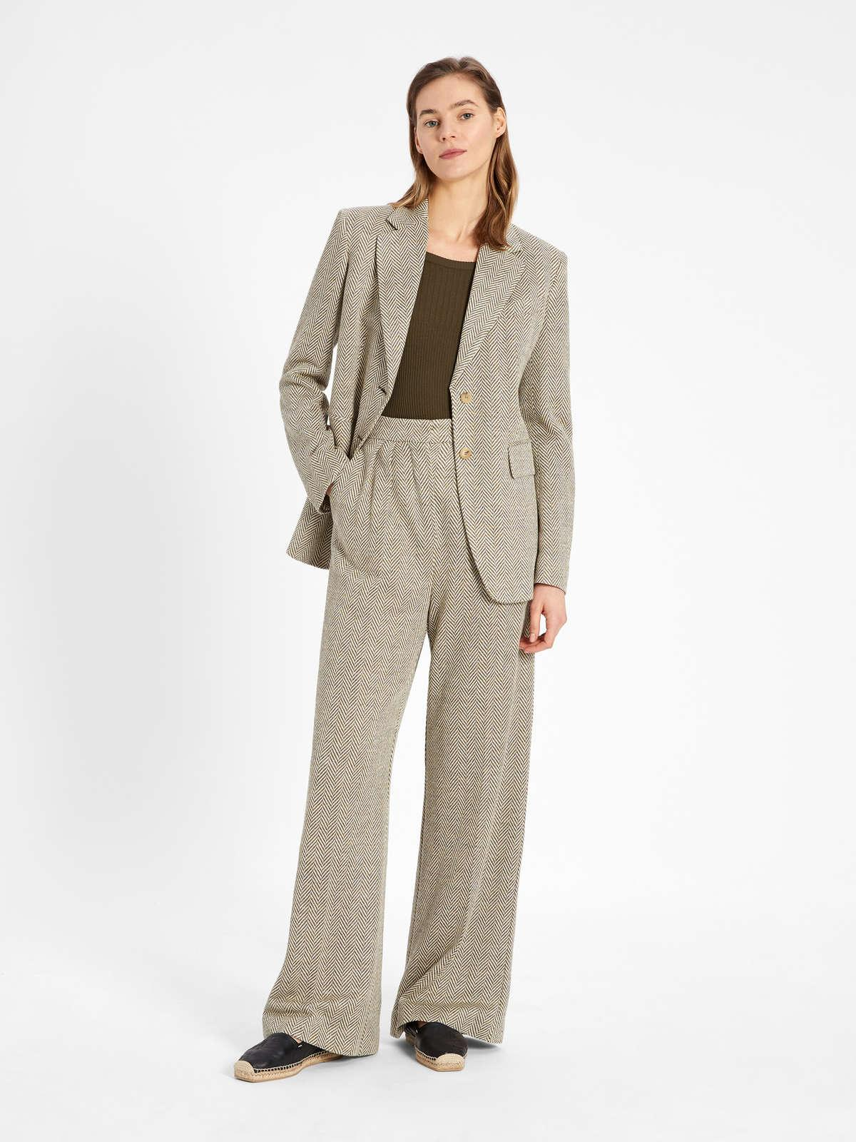 Womens Max Mara Trousers And Jeans | Linen Jersey Trousers Kaki