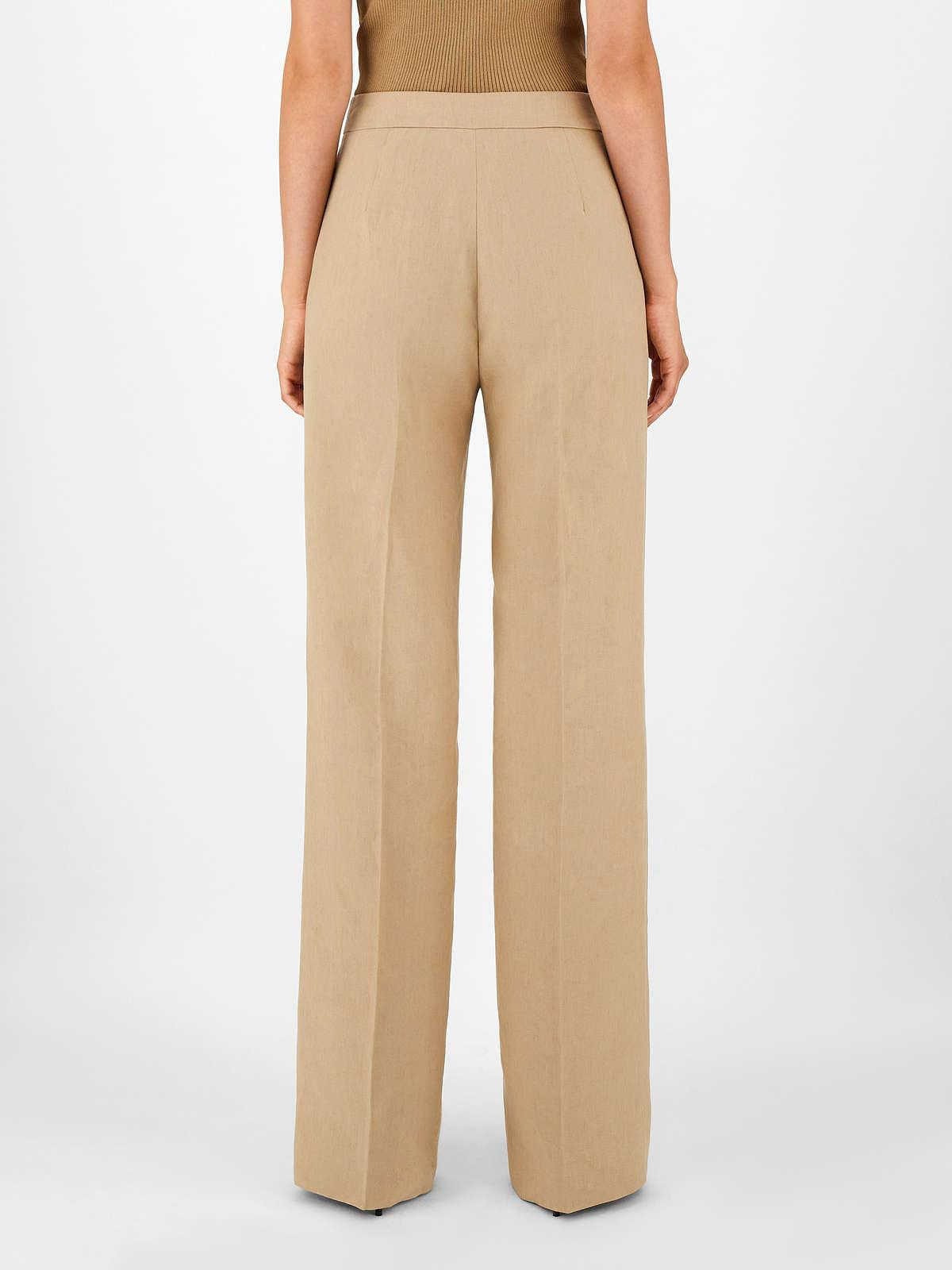 Womens Max Mara Trousers And Jeans | Linen Trousers Camel