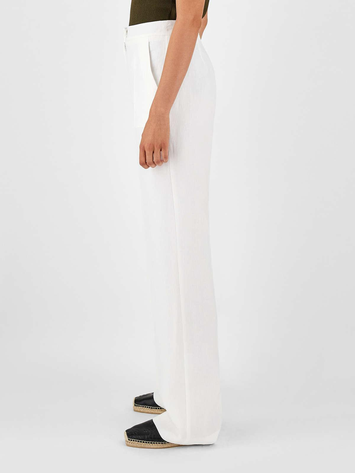 Womens Max Mara Trousers And Jeans | Linen Trousers Optical White