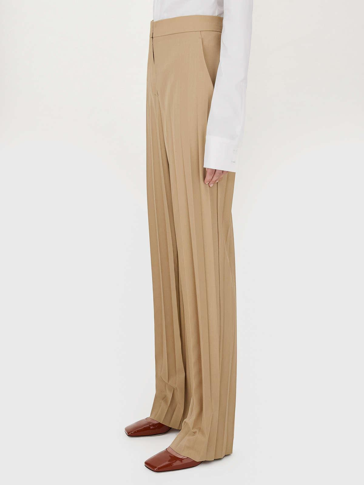Womens Max Mara Trousers And Jeans | Pleated Palazzo Trousers Colonial