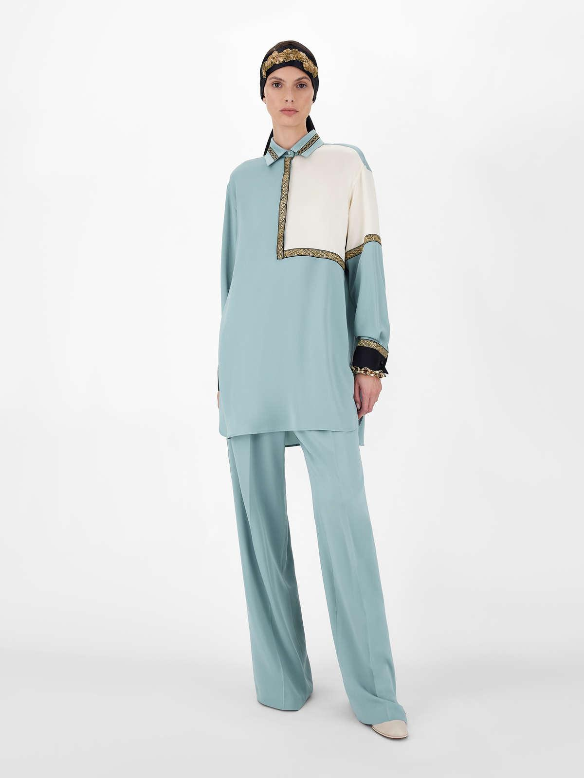Womens Max Mara Trousers And Jeans | Pure Silk Charmeuse Trousers Green