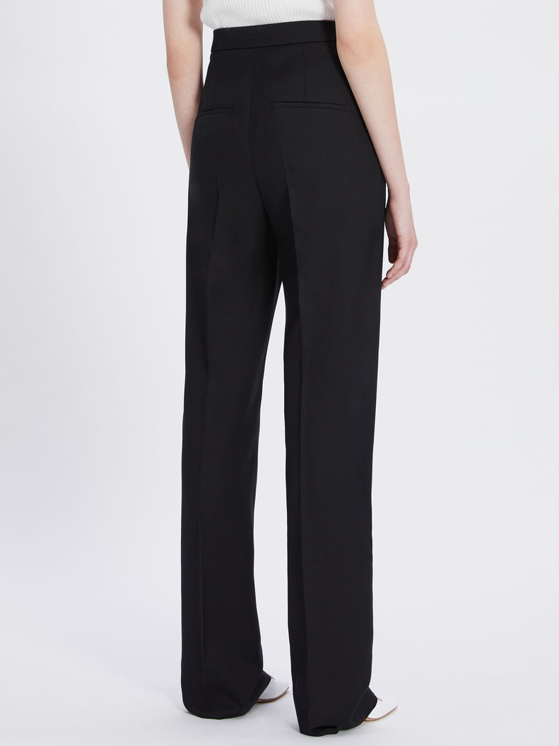 Womens Max Mara Trousers And Jeans | Relaxed-Fit Pleated Trousers Black