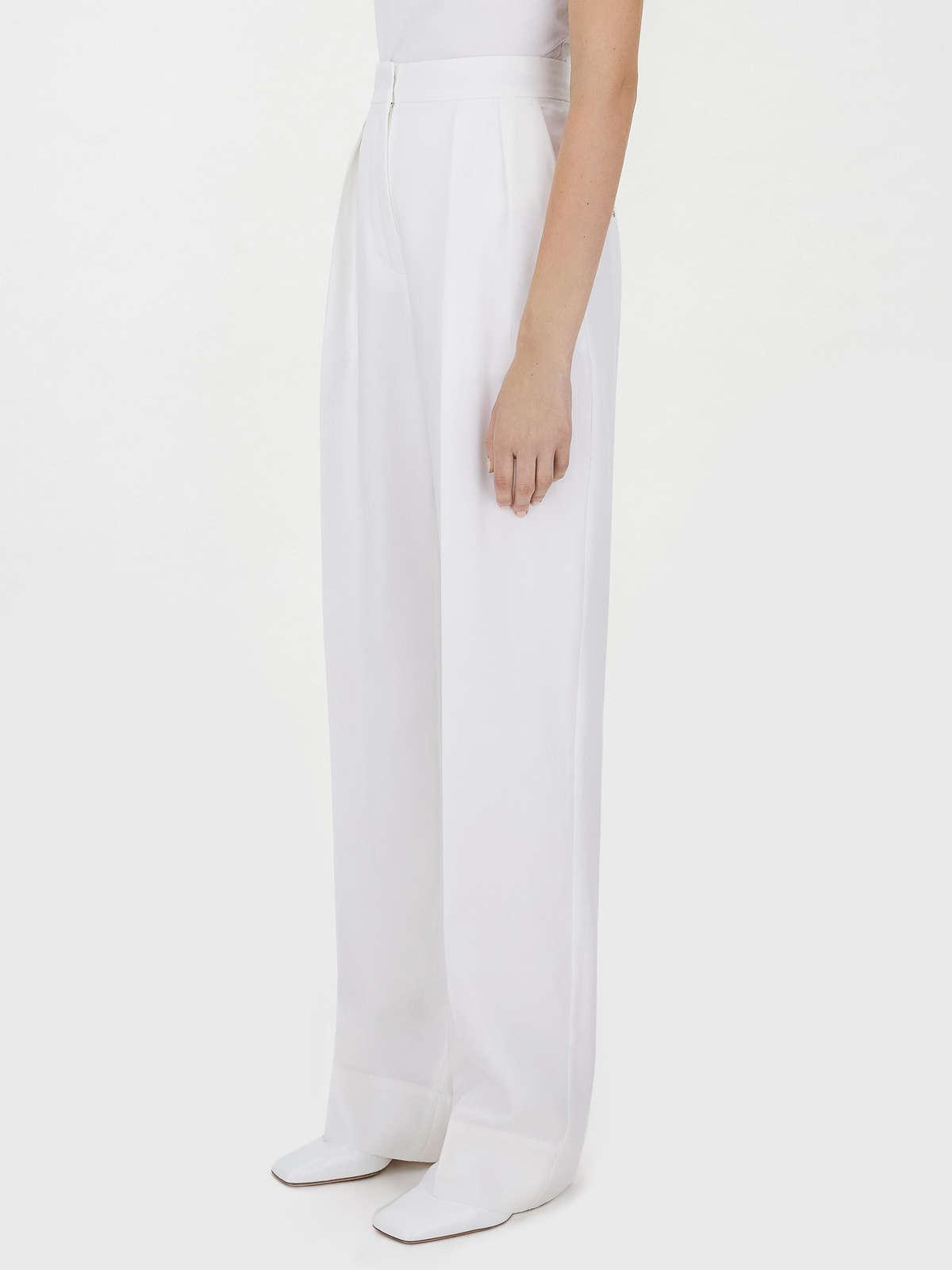 Womens Max Mara Trousers And Jeans   Relaxed-Fit Pleated Trousers Ivory