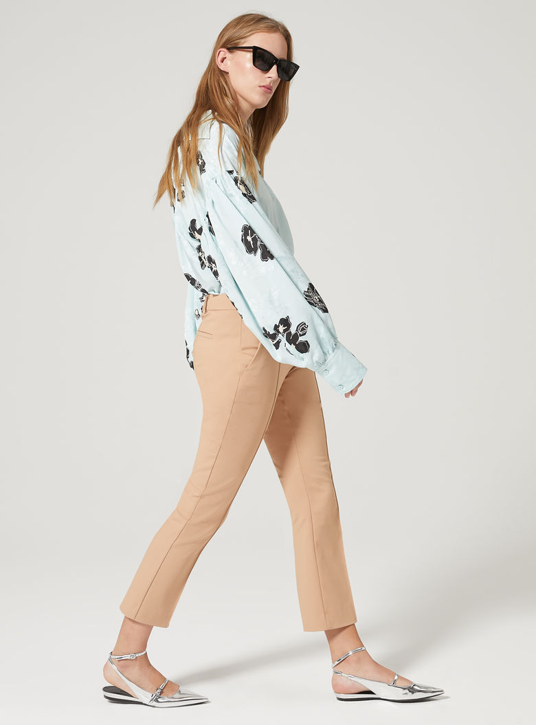 Womens Max Mara Trousers And Jeans | Ribbed Trousers Beige