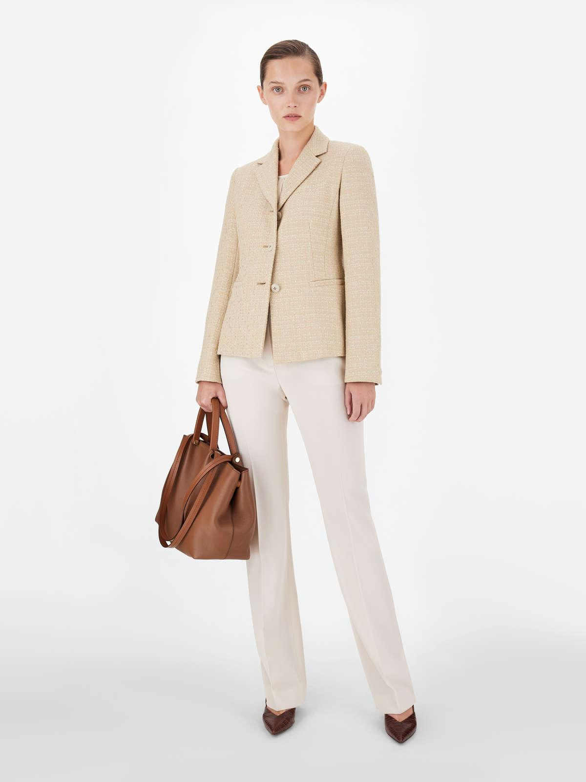 Womens Max Mara Trousers And Jeans | Satin Crepe Trousers Vanilla