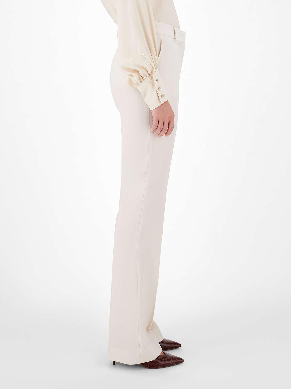 Womens Max Mara Trousers And Jeans   Satin Crepe Trousers Vanilla