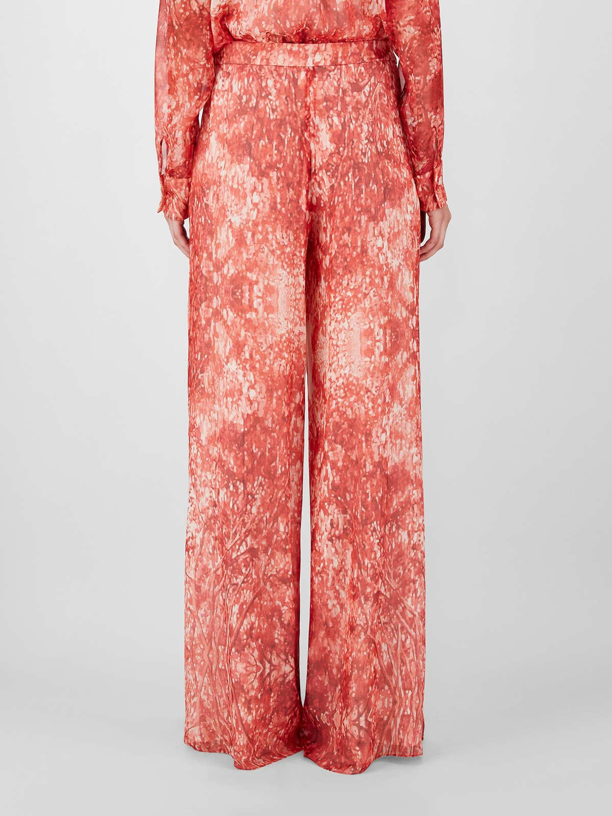 Womens Max Mara Trousers And Jeans   Silk Georgette Trousers Red