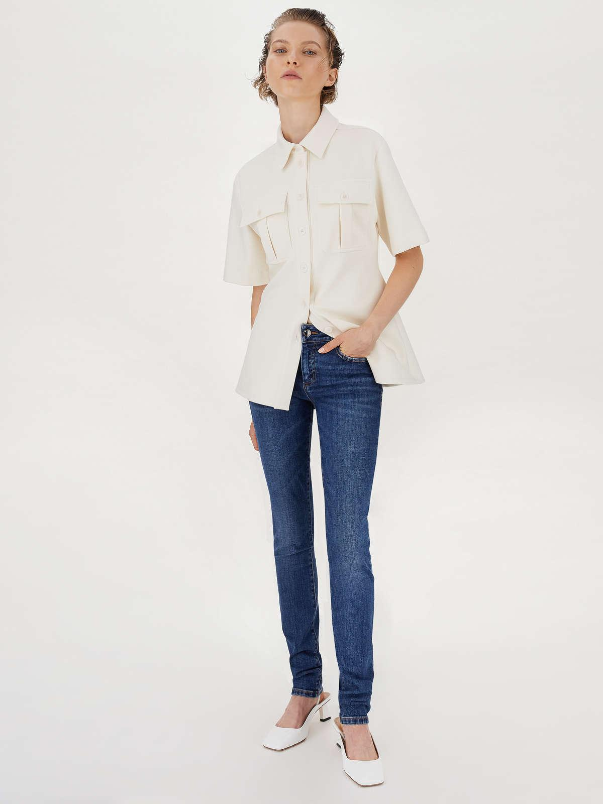 Womens Max Mara Trousers And Jeans | Slim-Fit 5-Pocket Jeans Midnightblue