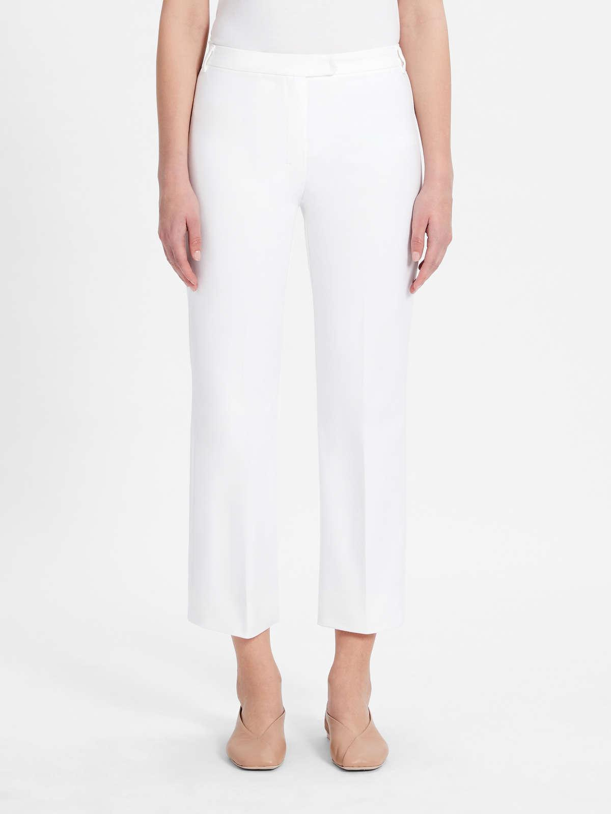 Womens Max Mara Trousers And Jeans | Stretch Cotton Trousers Optical White