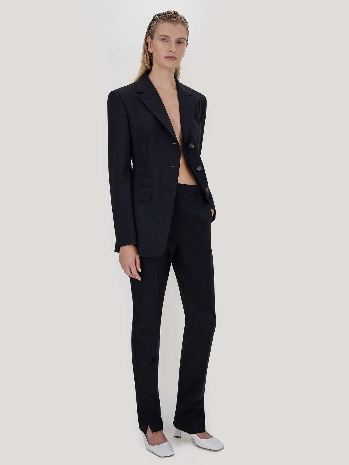 Womens Max Mara Trousers And Jeans | Stretch Wool Tailored Trousers Black