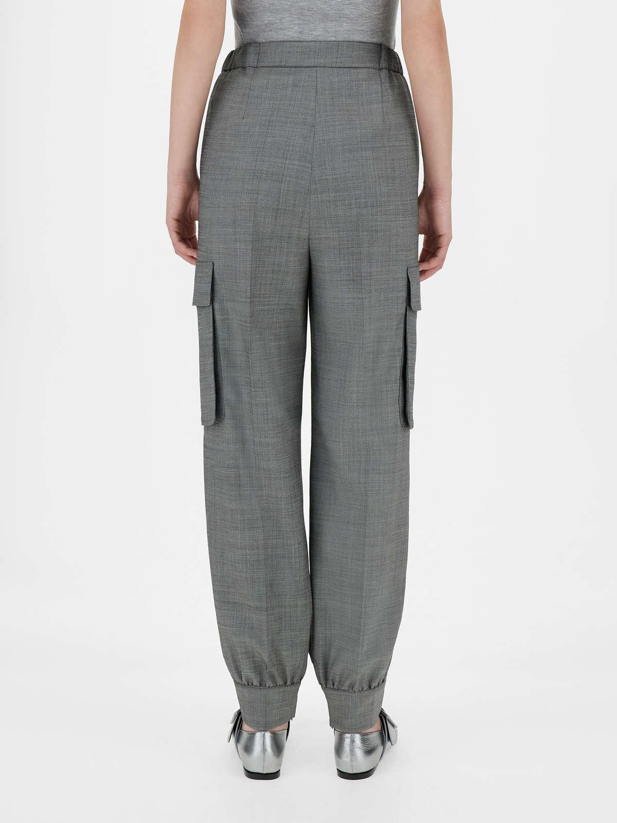 Womens Max Mara Trousers And Jeans   Stretch Wool Trousers Black