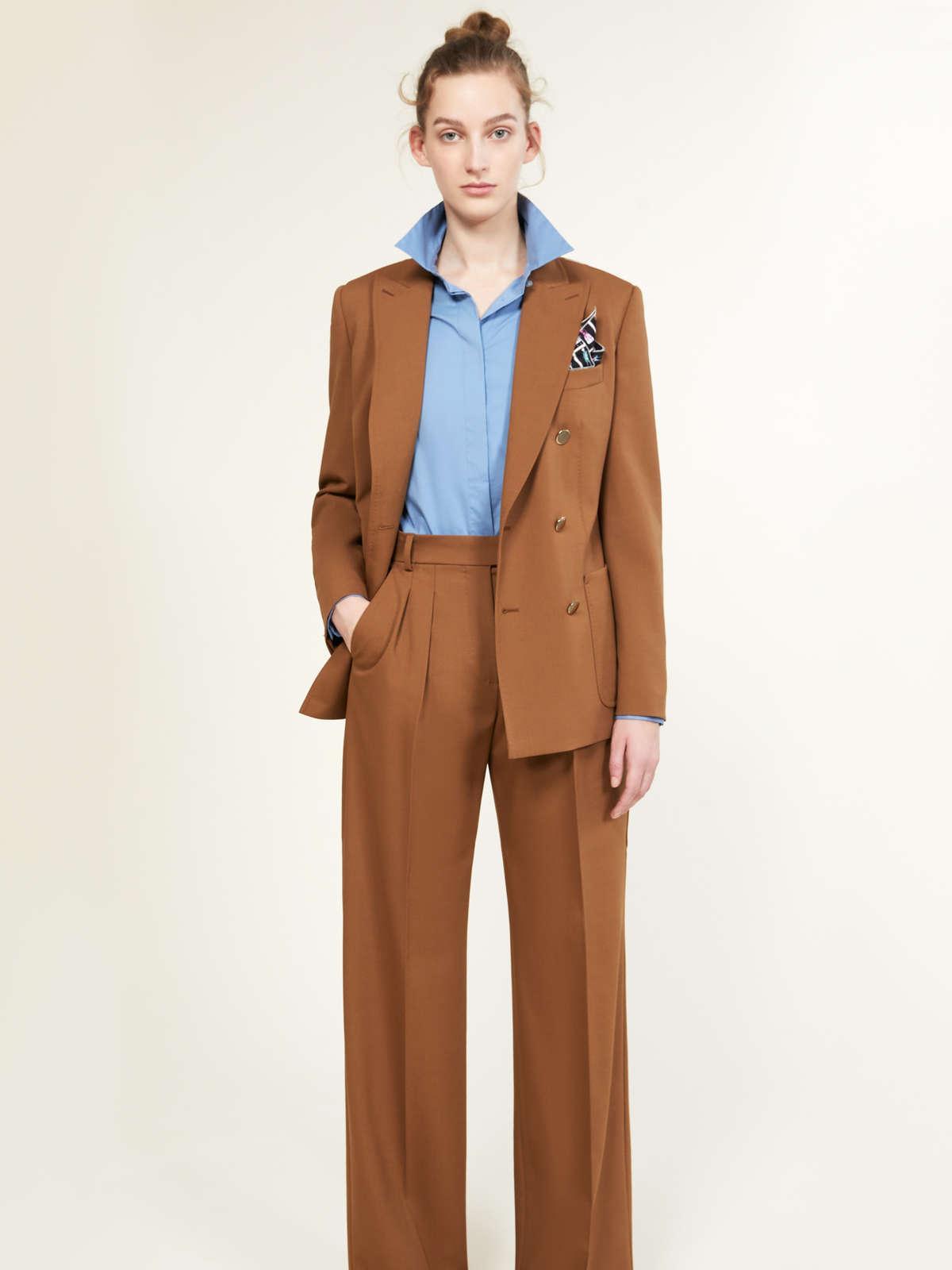 Womens Max Mara Trousers And Jeans | Trousers In Wool And Mohair Faille Caramel
