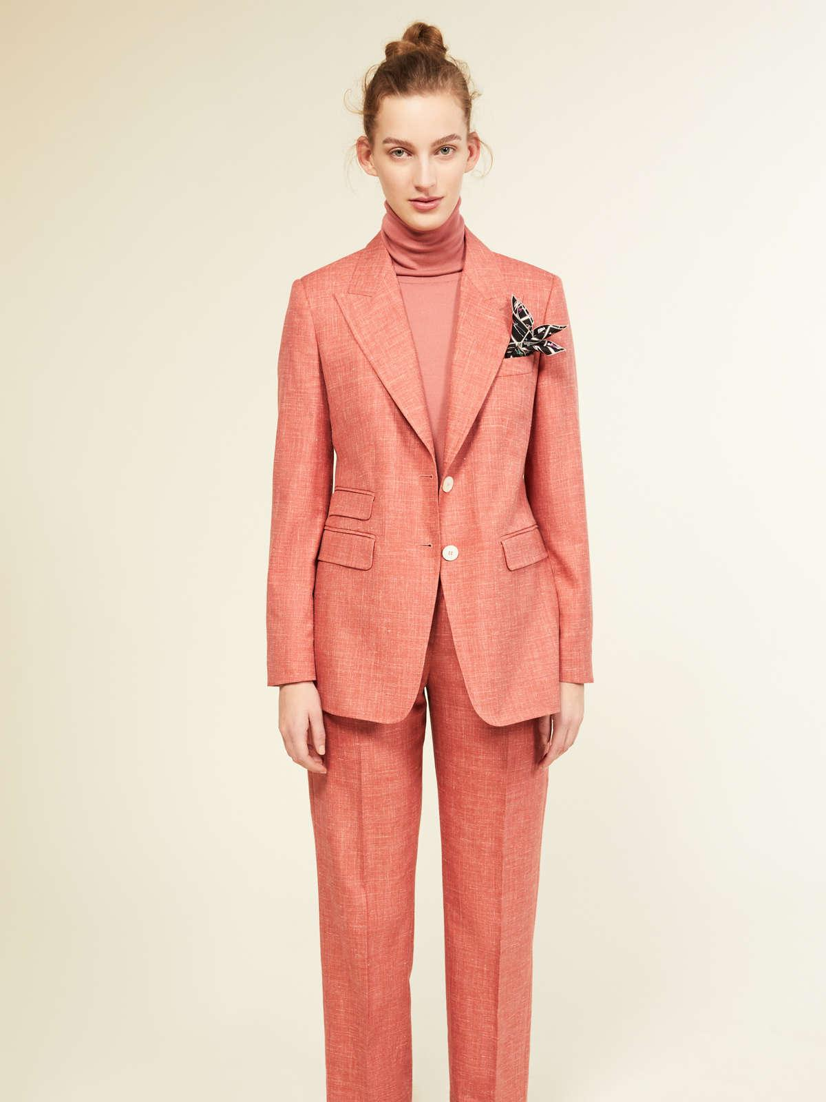 Womens Max Mara Trousers And Jeans | Trousers In Wool Pink
