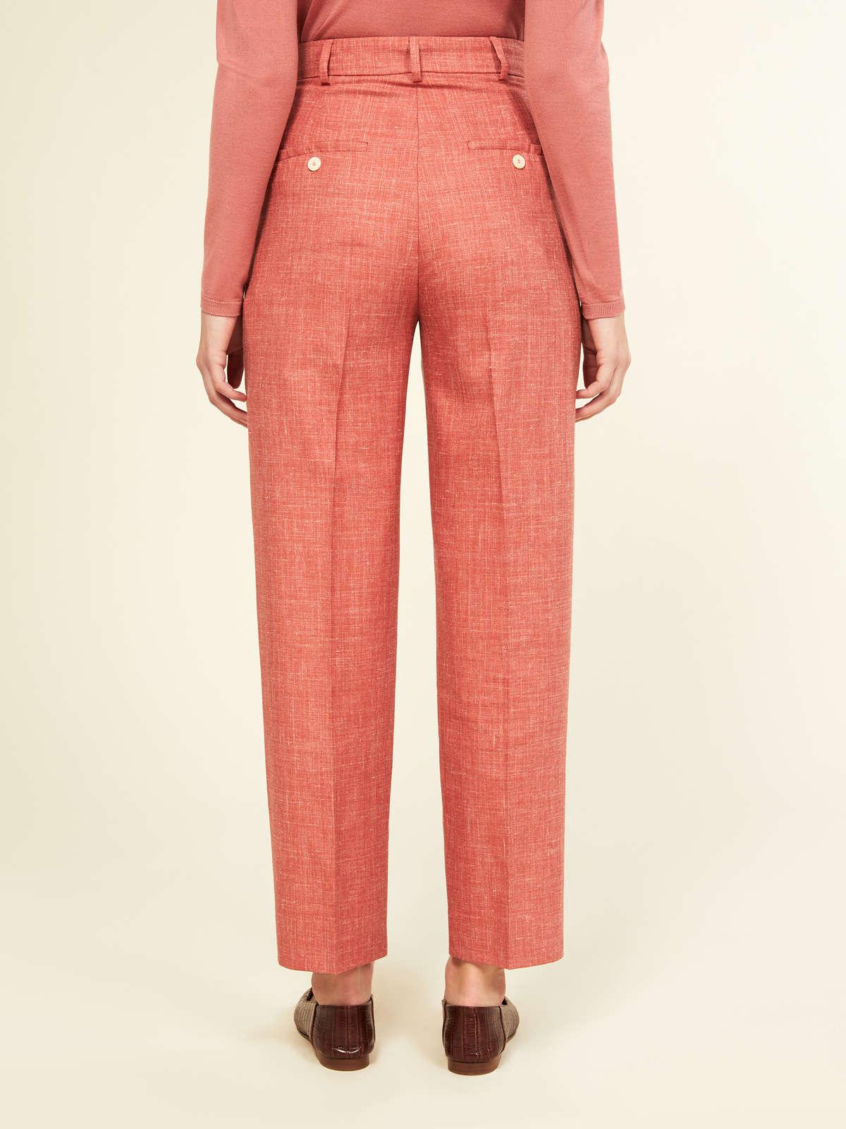 Womens Max Mara Trousers And Jeans   Trousers In Wool Pink