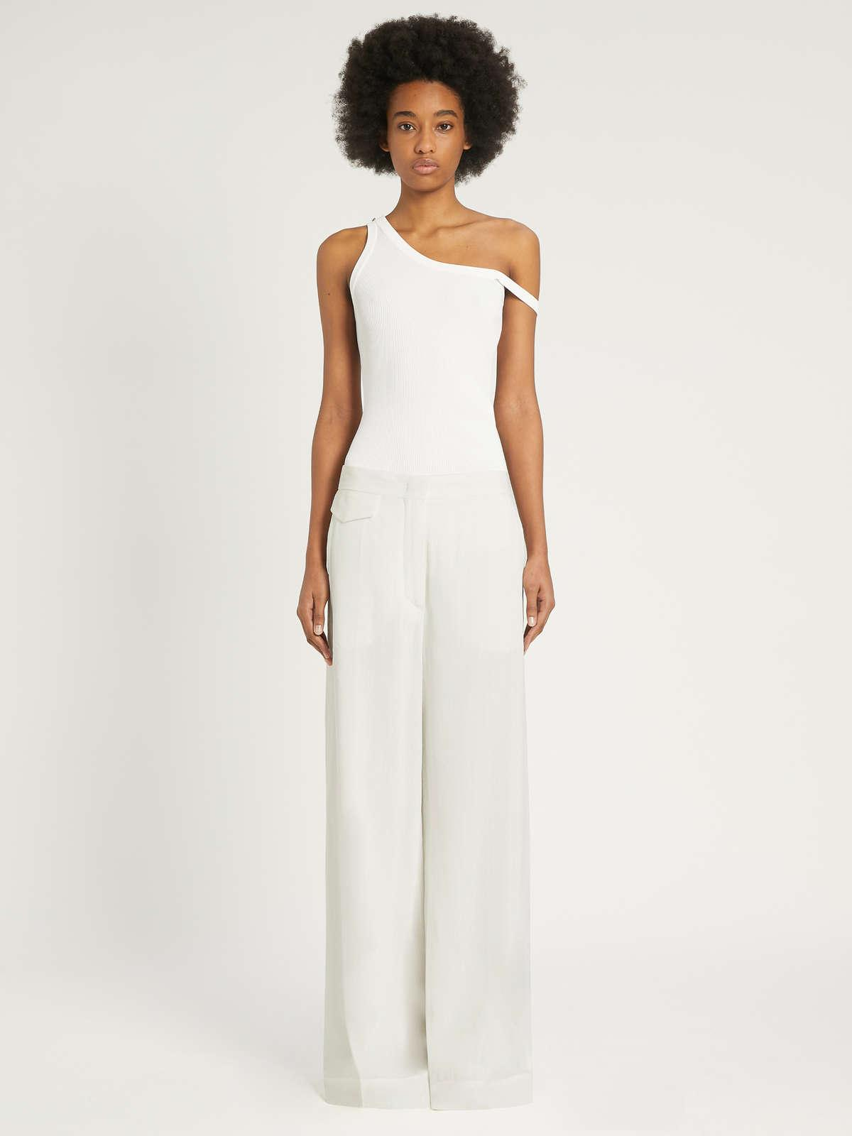 Womens Max Mara Trousers And Jeans   Viscose And Ramie Trousers Milk