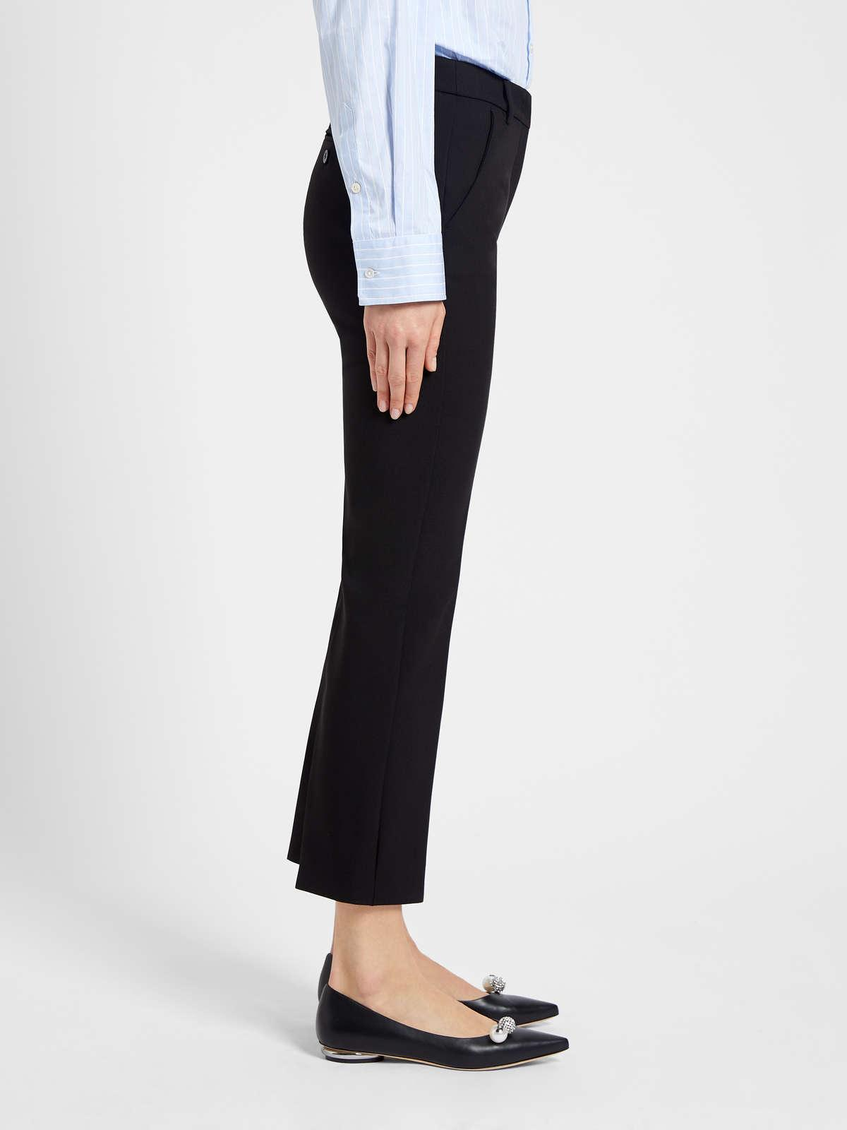 Womens Max Mara Trousers And Jeans | Viscose Canvas Trousers Black