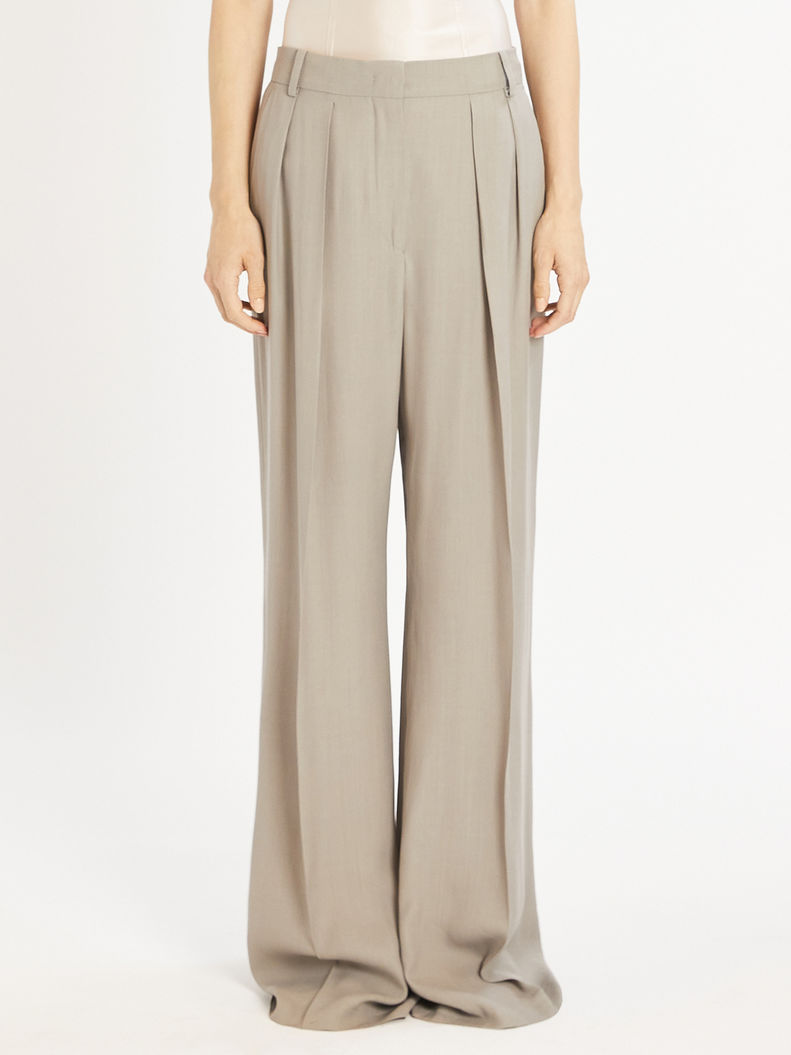 Womens Max Mara Trousers And Jeans | Wide Trousers Light Grey