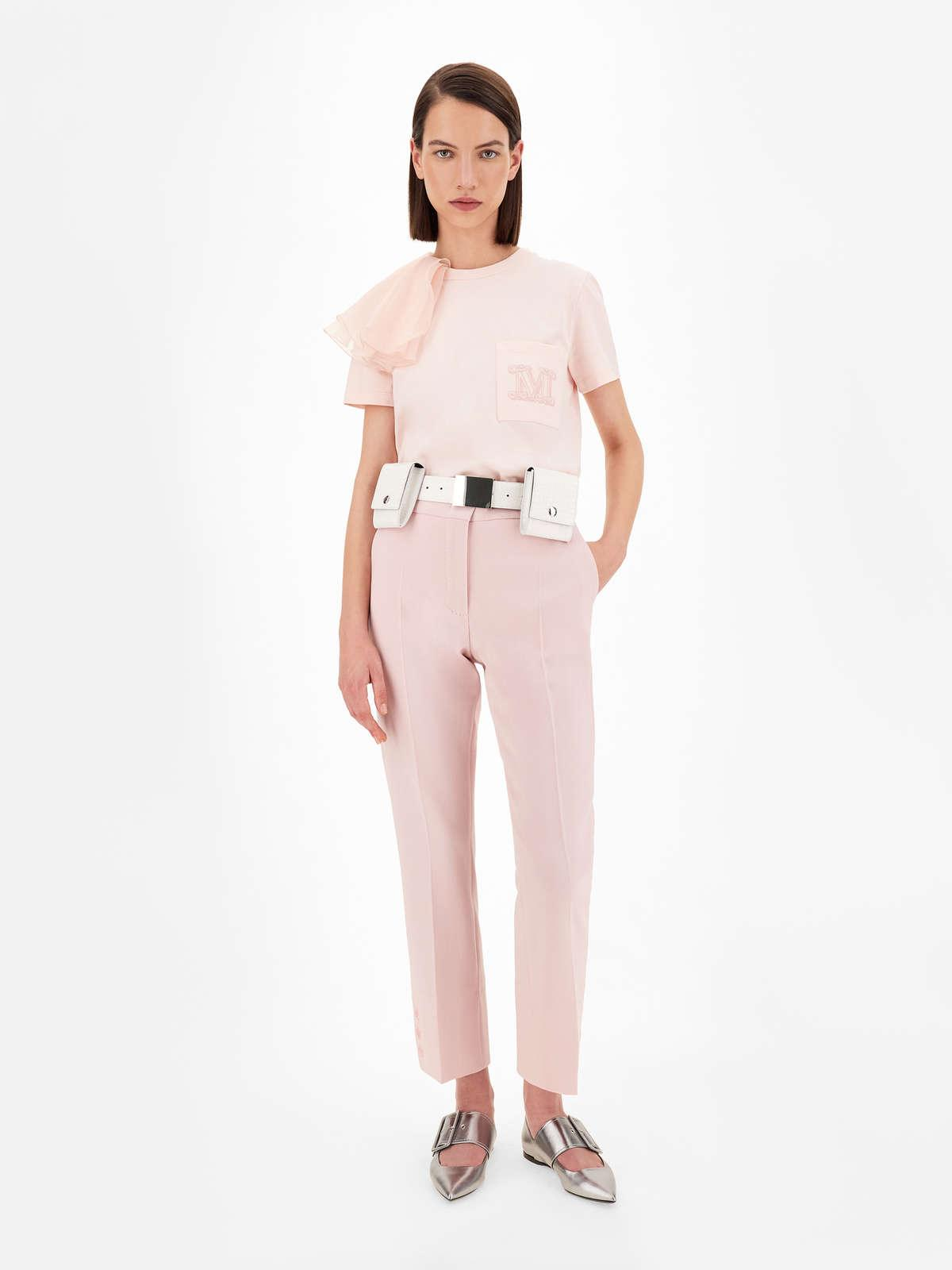 Womens Max Mara Trousers And Jeans | Wool Crepe Trousers Pink