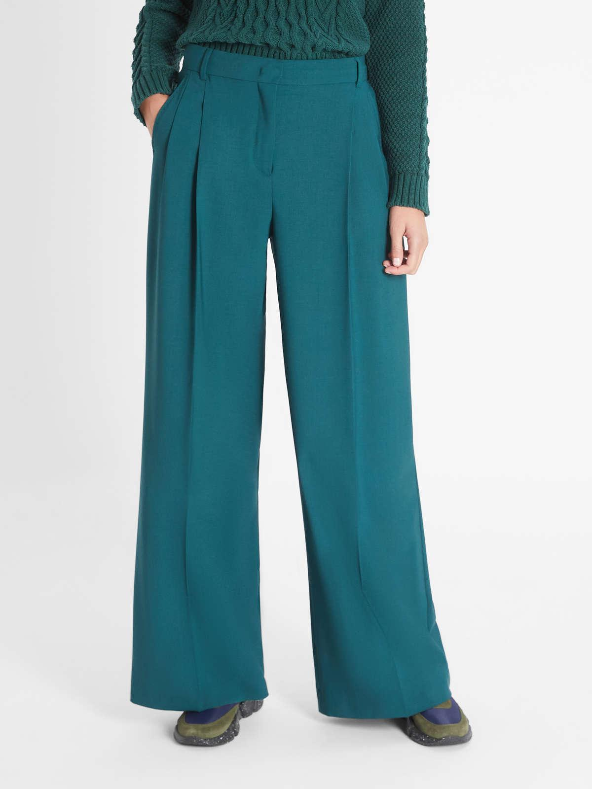 Womens Max Mara Trousers And Jeans   Woollen Cloth Trousers Dark Green