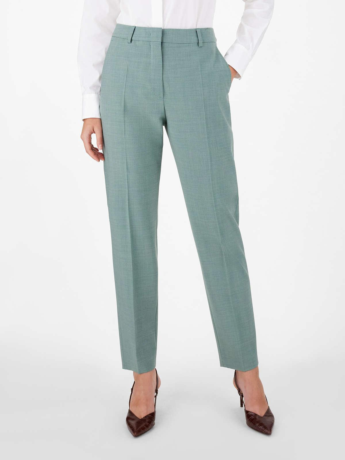 Womens Max Mara Trousers And Jeans | Woollen Cloth Trousers Sage Green