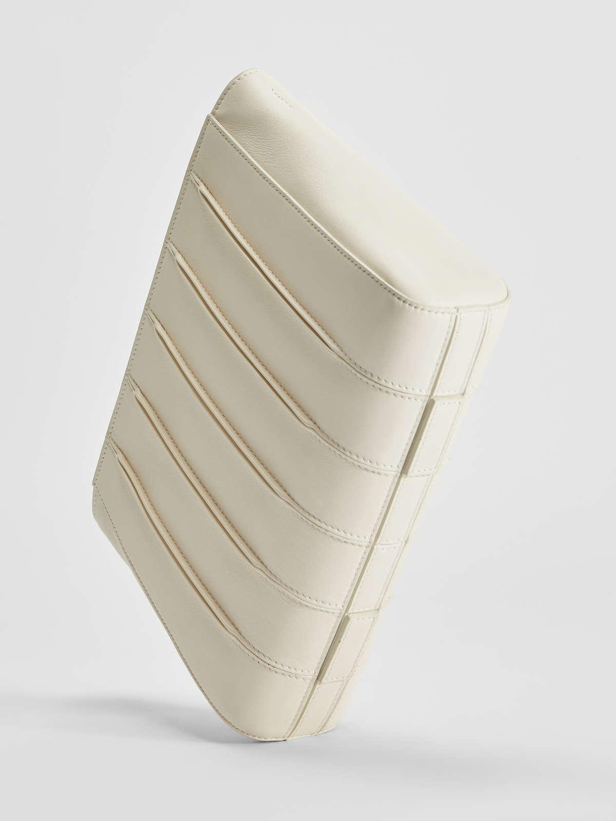 Womens Max Mara Whitney Bag   Whitney Bag Clutch In Smooth Leather Ivory