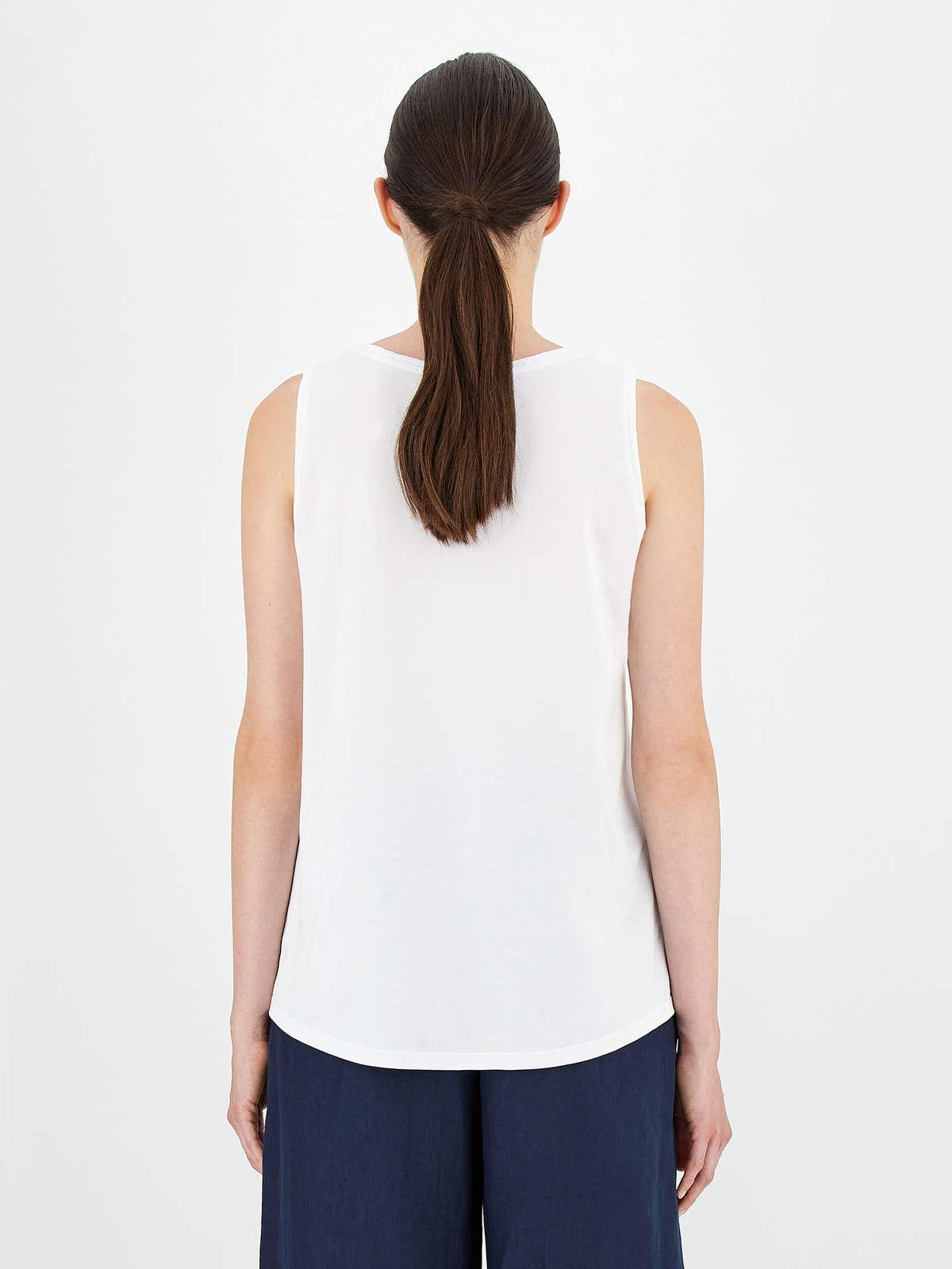 Womens Max Mara Tops And T-Shirts | Cotton Jersey Top White