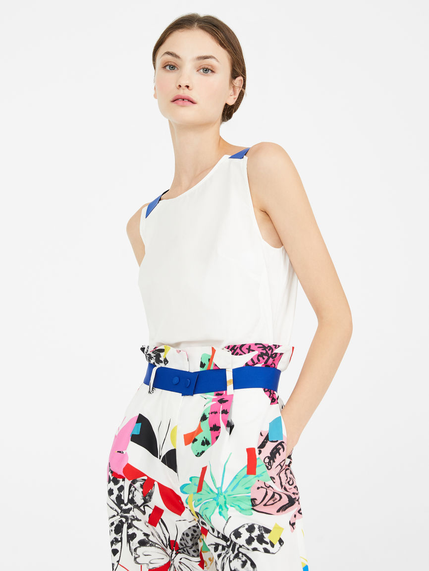 Womens Max Mara Tops And T-Shirts   Flutterflies Top White