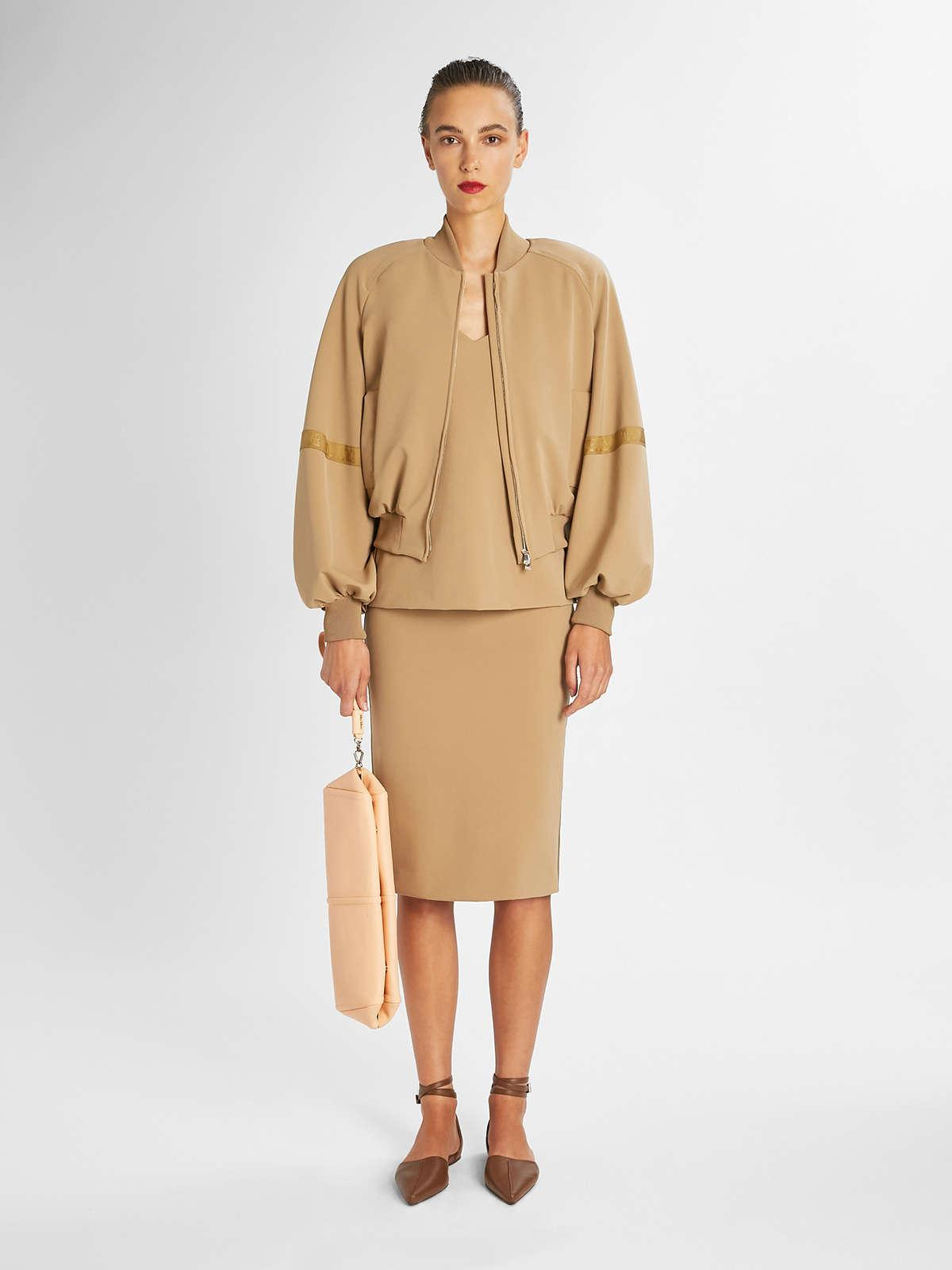 Womens Max Mara Tops And T-Shirts | Technical Jersey Top Camel
