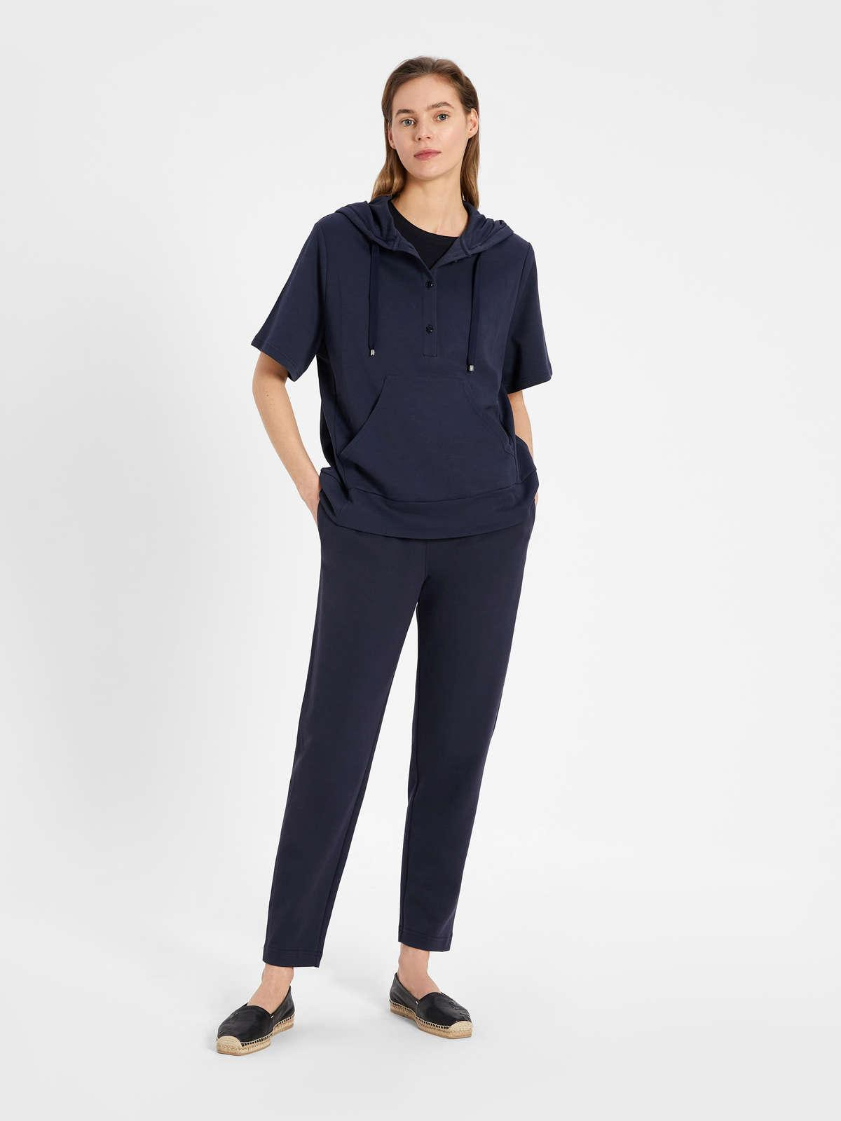 Womens Max Mara Trousers And Jeans | Cotton Fleece Trousers Navy