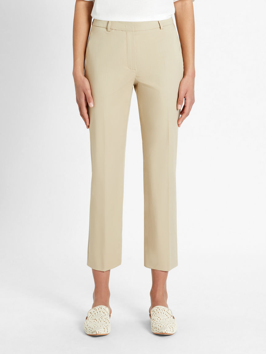 Womens Max Mara Trousers And Jeans | Cotton Gabardine Trousers Clay