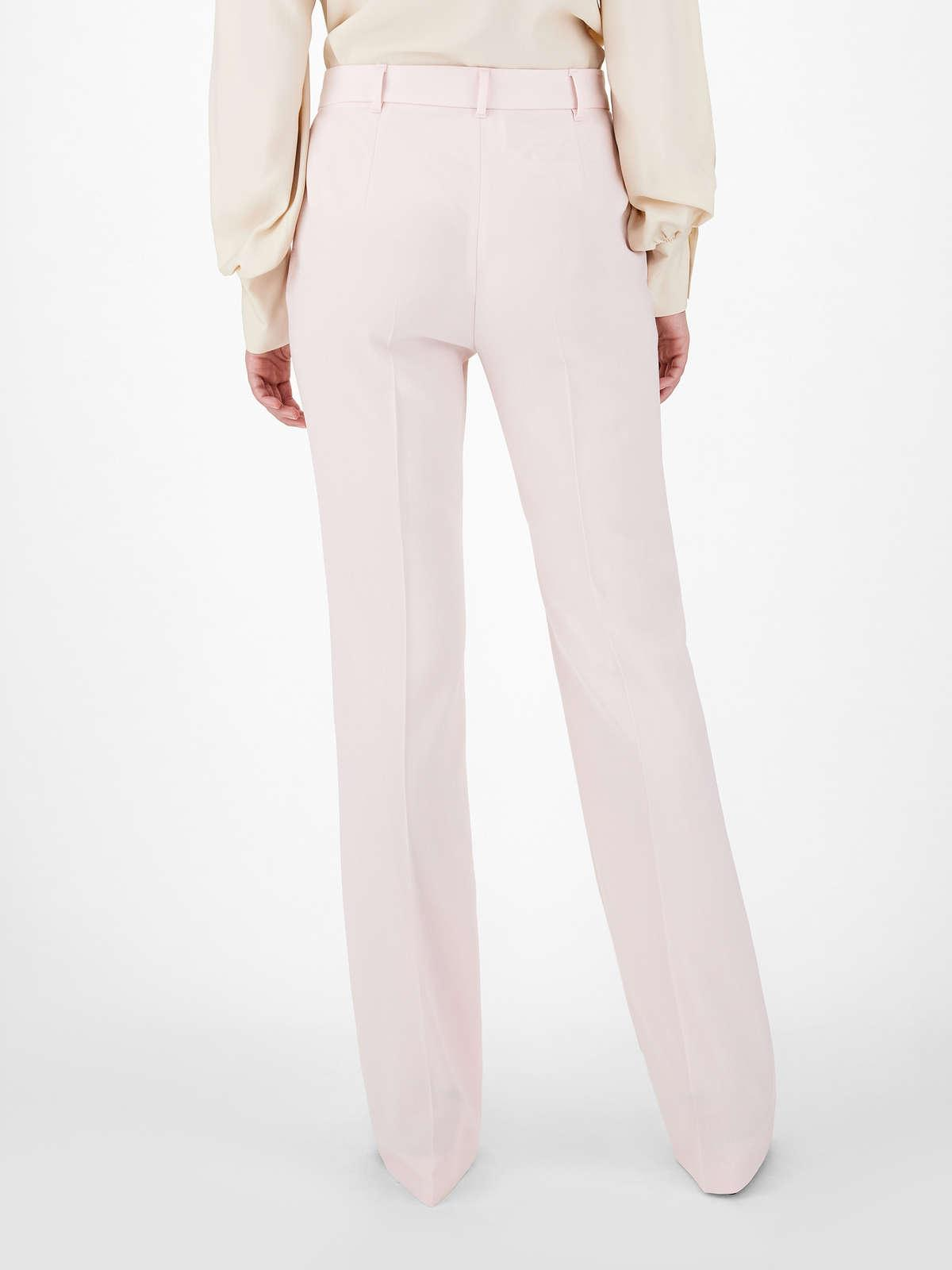 Womens Max Mara Trousers And Jeans   Satin Crepe Trousers Pink