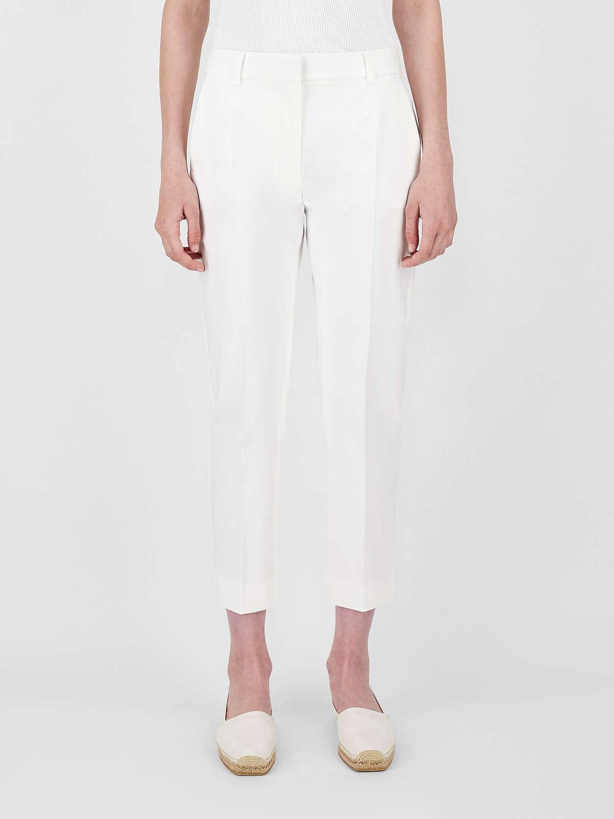 Womens Max Mara Trousers And Jeans | Stretch Cotton Satin Trousers Optical White