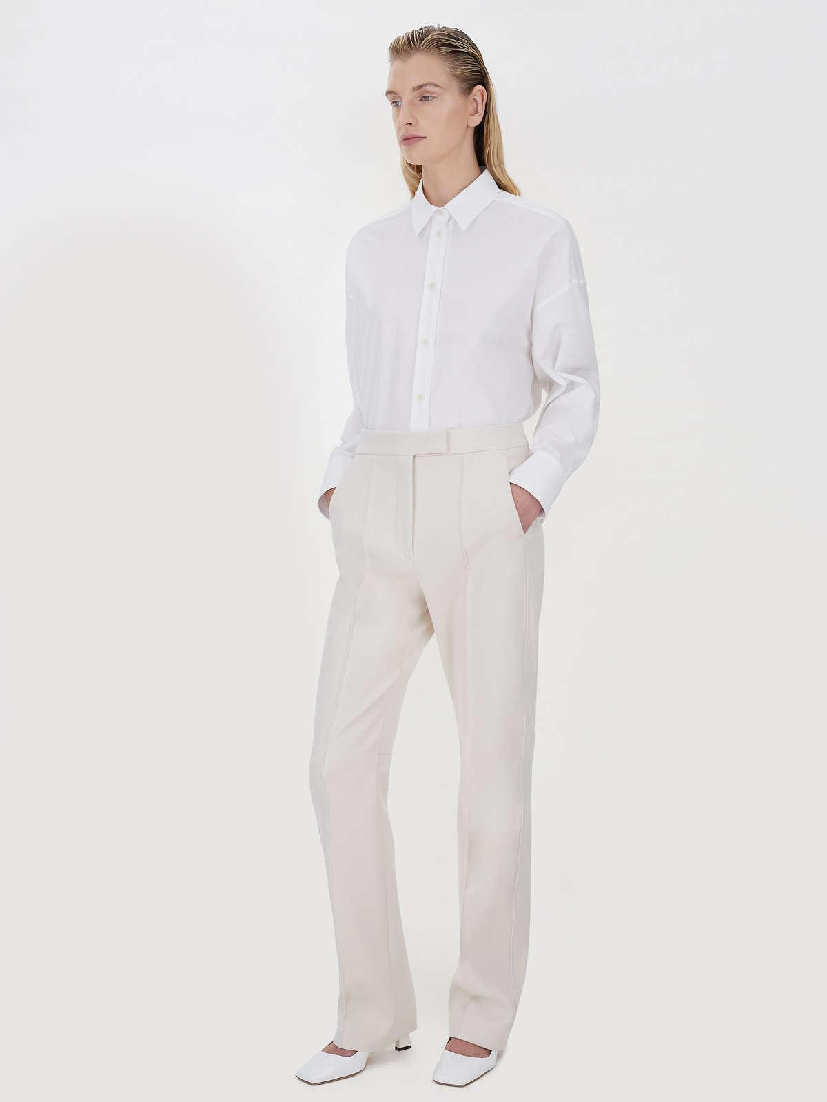 Womens Max Mara Trousers And Jeans | Tailored Trousers Ivory