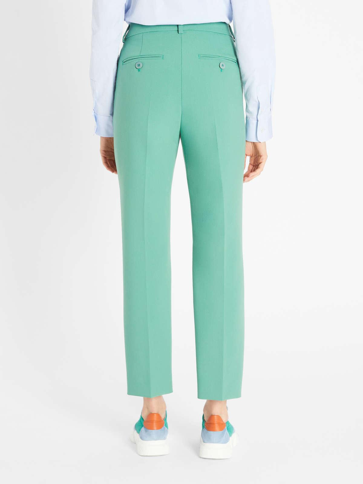 Womens Max Mara Trousers And Jeans   Viscose Canvas Trousers Green