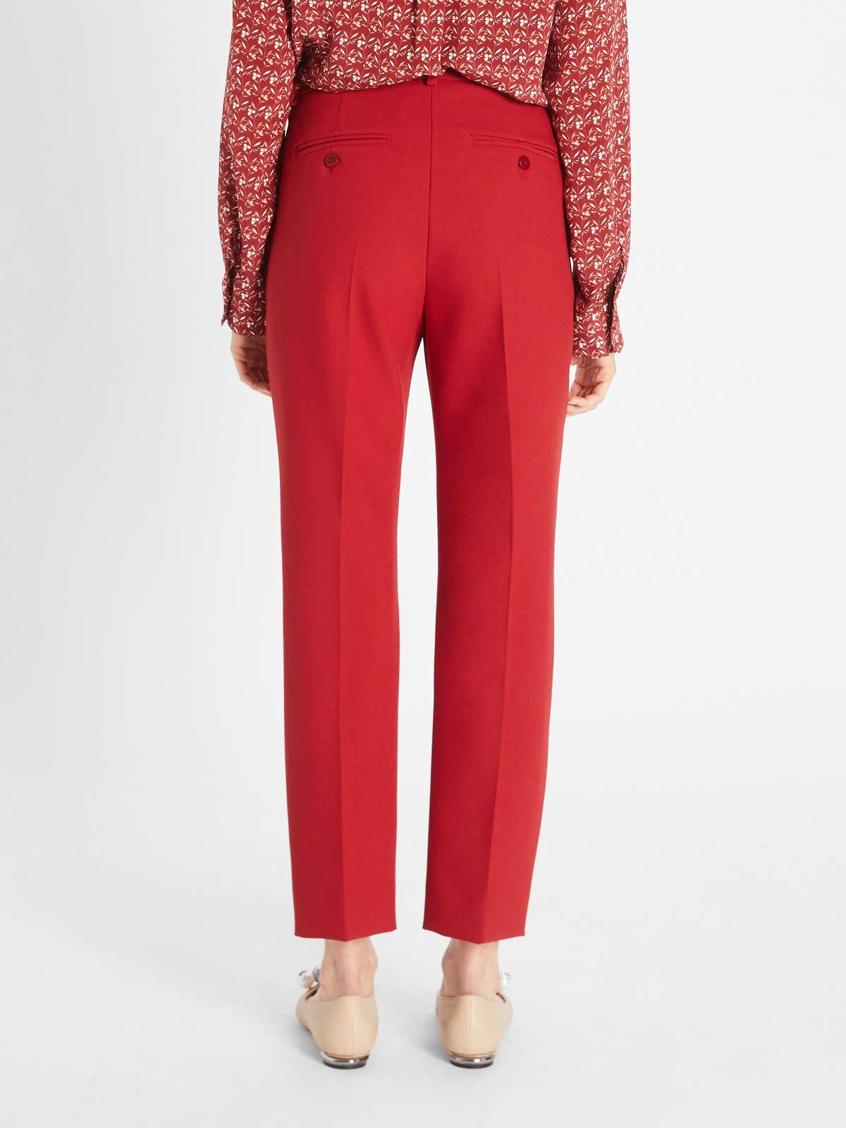Womens Max Mara Trousers And Jeans | Viscose Canvas Trousers Red