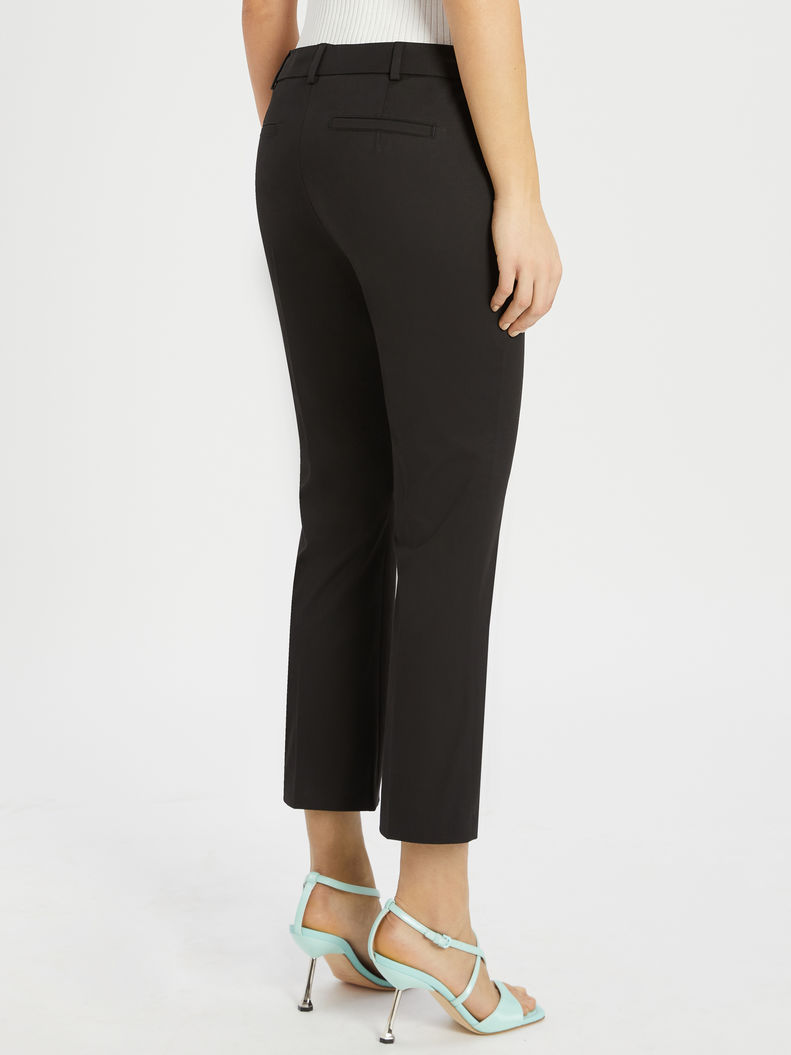 Womens Max Mara Trousers And Jeans | Cotton Gabardine Trousers Black
