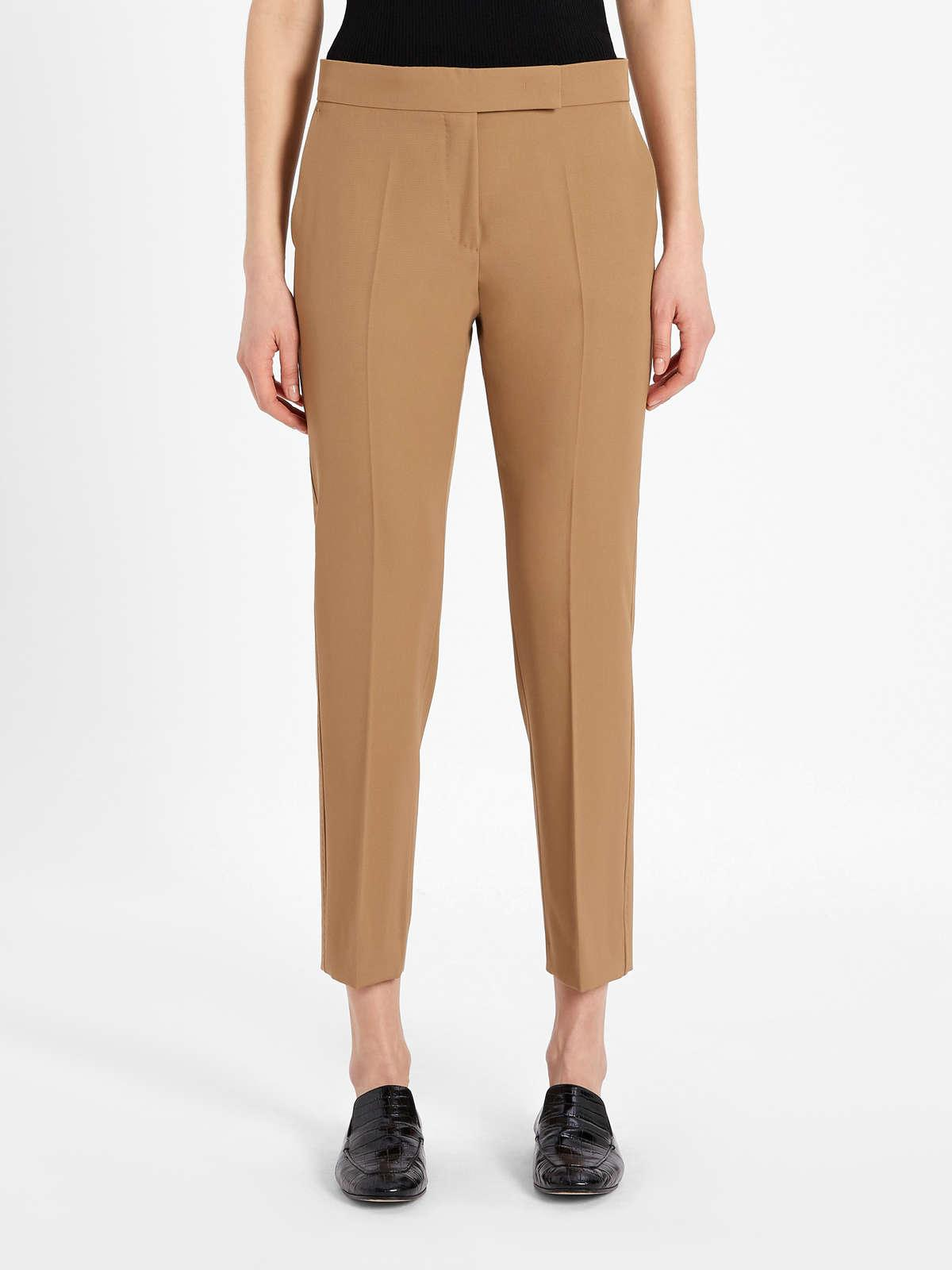 Womens Max Mara Trousers And Jeans | Trousers In Pure Wool Gabardine Camel