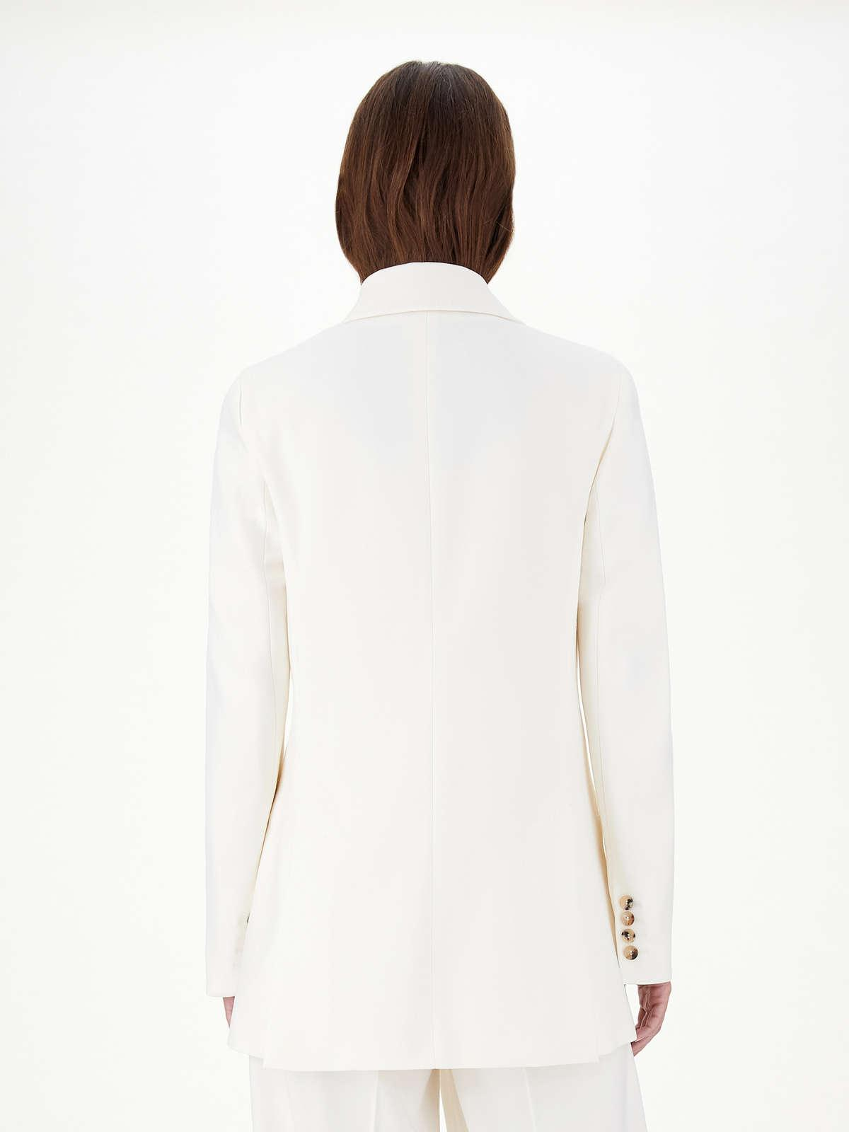Womens Max Mara Jackets And Blazers   Double-Breasted Blazer In Stretch Wool Crêpe White