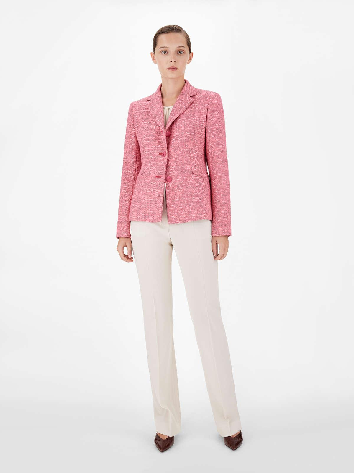 Womens Max Mara Jackets And Blazers | Stretch Viscose And Cotton Jacket Antique Rose